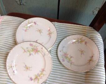 Crooksville China Spring Blossom pattern set of 8 dessert plates