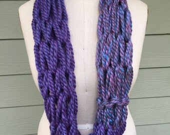 Purple on Purple Infinity Scarf