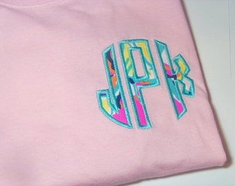Monogram Shirt, Lilly Pulitzer Monogram Shirt, Lilly Pulitzer Long Sleeve Tshirt
