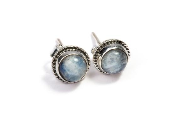 Moonstone Gemstone Sterling Silver Stud Earrings Simple Jewellery Dainty Jewellery  Free UK Delivery Gift Boxed