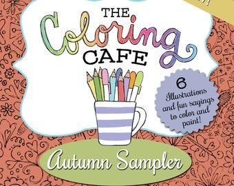 The Coloring CafeTM Autumn Sampler Instant Download