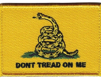 Velcro Yellow Gadsden Don't Tread on Me Tactical Patch Flag