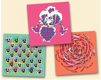 Flower Greeting Card Set (3)