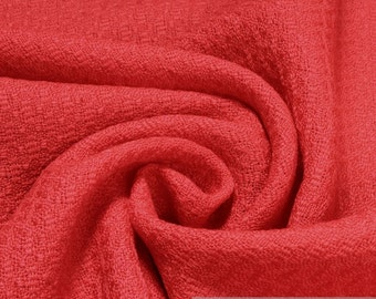 Fabric pure wool structure red light crease resistant