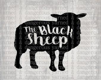 Black Sheep SVG PNG