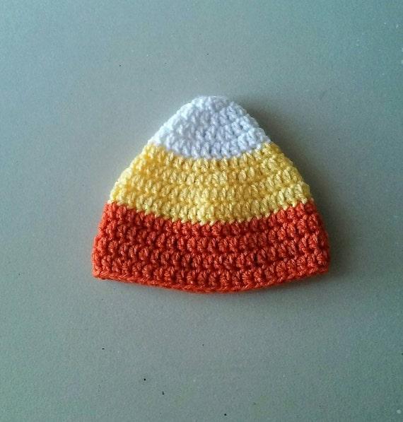 Candy corn crochet hat, photo prop