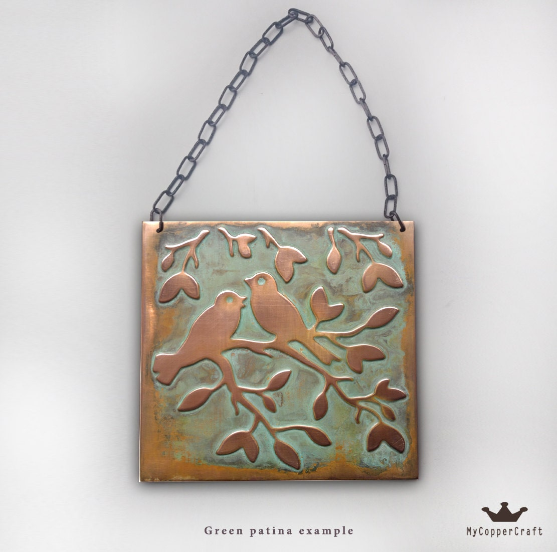 Metal decor birds wall art copper decor metal wall art for Copper wall art