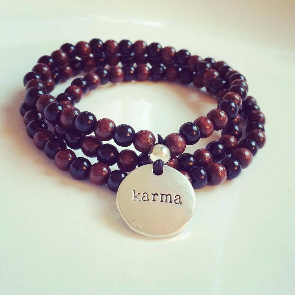 Yoga Beads: Yoga 108 Pearls Karma Mala Mantra Bead Wood