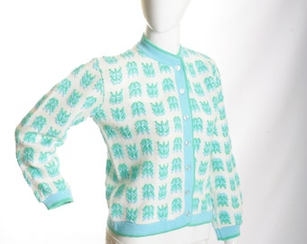 50% Off Vintage Little Bo Peep Hand Knitted Cardigan