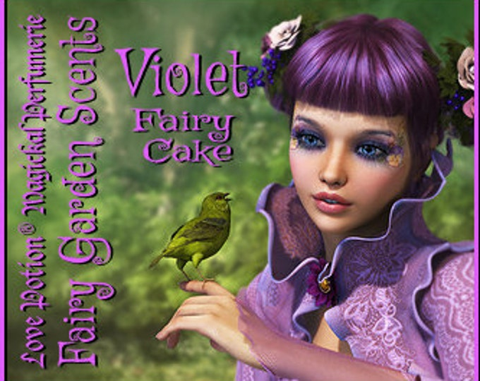 Fairy Cake: Violet - Sweet & Youthful Layerable Perfume - Love Potion Magickal Perfumerie
