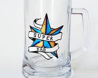 Ale Tankard - SuperDad! - nautical star design