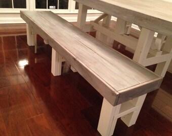 Farm Table Bench- Custom