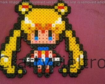 Sailor moon hama, Usagi magnet, sailor moon magnet.
