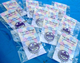 Option 2: 10 Ellie Badge Bundle - 10 Pack of Grape Soda Pins Inspired by Disney-Pixar's Up