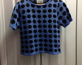 Blue Dotted Top