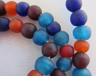 Mixed Ghana Glass Beads (12x11mm) [63033]