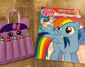 Twilight Sparkle Pony Crayon Holder & Coloring Book Gift Set
