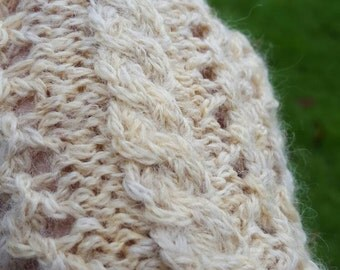 Fingerless Mittens in Luxury Alpaca blend, Cream