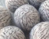 SALE - Felted Wool Dryer Balls Eco - 100% Wool - Set of 7 Eco Dryer Balls