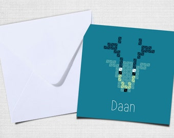 Birth card with envelope