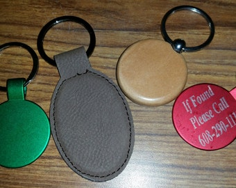 Laser Engraved Key Chain