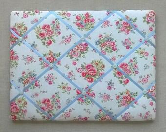 Handmade - Memo/Pin Board in Cath Kidston's Cranham fabric - 40cm x 30cm