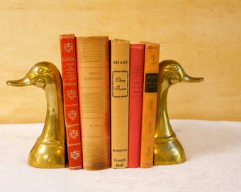 Vintage Book Collection, Home Decor, Instant Library, Bookself Filler