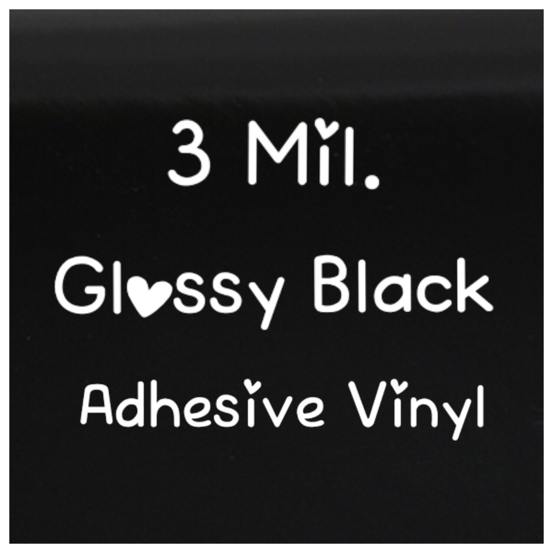 Vinyl Black Vinyl Premium Vinyl Outdoor Vinyl 3 Mil