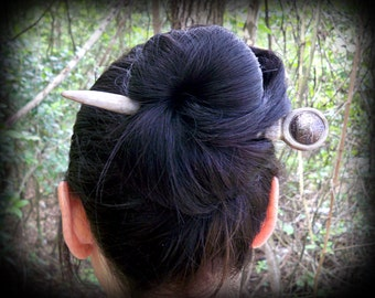 Real deer antler hair stick w/ state quarter of your choice - Hair stick - hair fork  - deer antler