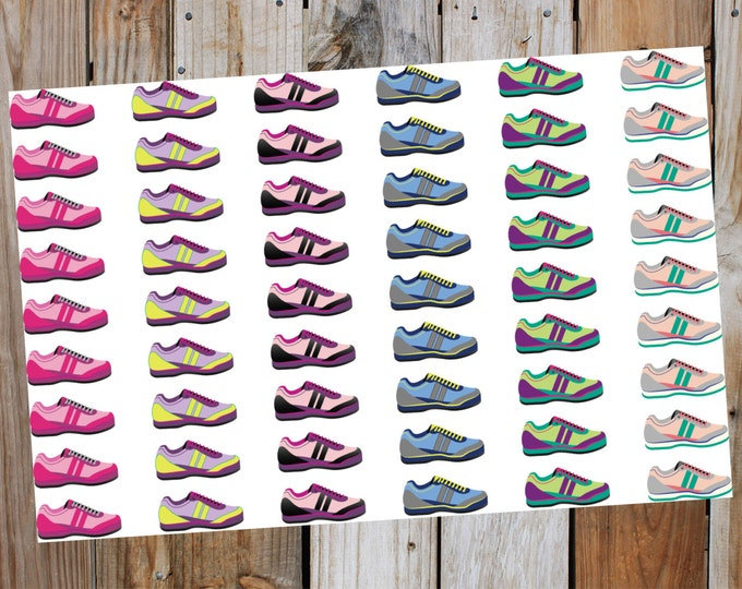 Running Shoe - Stay Fit Planner Stickers - Workout - Exercise Planner Stickers | for Erin Condrem Happy Planner, LimeLife or any planner