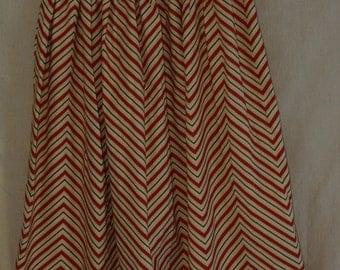 Modest Chevron Skirt