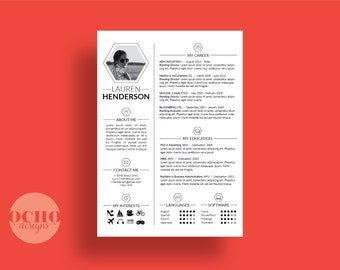 Beautiful Customized Resume, Unique Resume, +Letterhead +Cover Letter +References Page