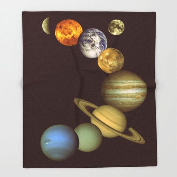 Fleece blanket solar system blanket vintage by 2sweetsgalaxy for Solar system fleece