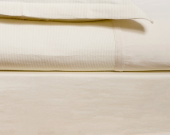 Fitted sheet Queen or king Cream sheet Set Organic Cotton bedding Luxury Bedding Set