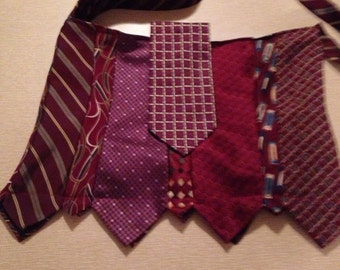 Burgundy necktie purse