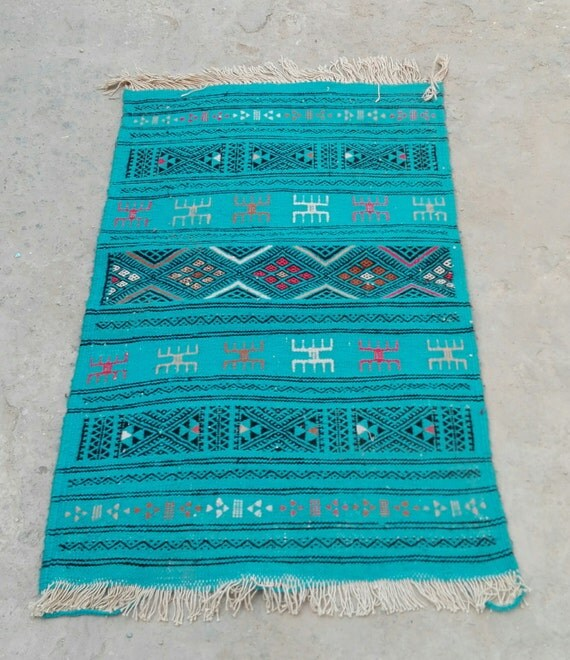 Blue Rug Rug Carpet Kilim Rug Moroccan Rug Turkish Rug