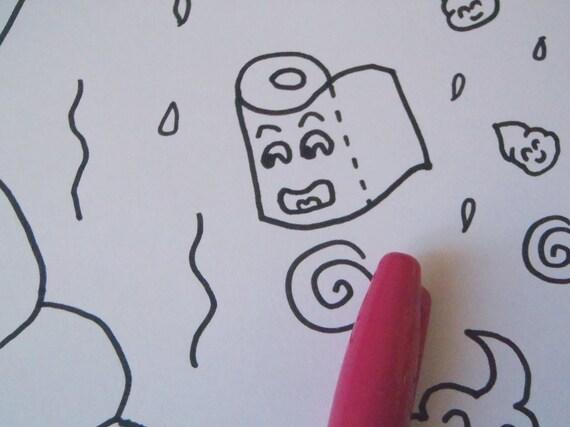 Disegno Bagno Da Colorare : Cacchina kawaii disegno da colorare cacca cacchetta carini