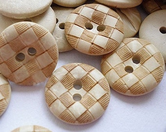10pcs--Wooden Buttons, Round, 15mm (B31-9)