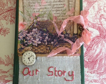 "Altered Book Journal ""Our Story"""