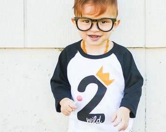 Where the Wild Things Are Second Birthday Shirt - Wild 2 Shirt - Hipster Boys Birthday Shirt - Where the Wild Things Are Birthday Outfit