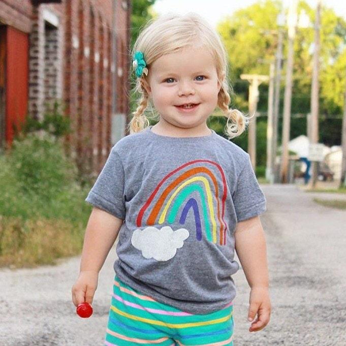 Rainbow Shirt Rainbow Baby Outfit Rainbow by PluckyMustard