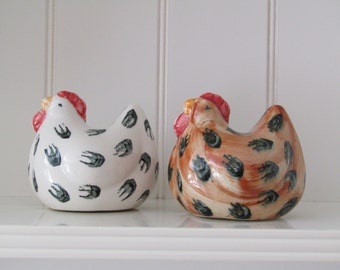 Vintage Chicken Salt & Pepper pots
