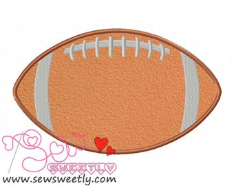 Football Applique Design.