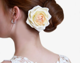 Wedding rose decoration for the bride's hair realistic flowers flower hair accessories wedding hair accessories for prom