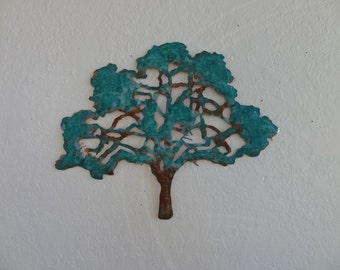 Copper Tree with Tiffany Green Patina