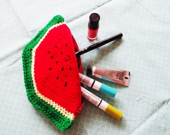 Kit watermelon crochet cotton lined