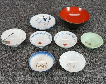 Vintage Collection Of Small Asian Style Bowls 8 Piece Set