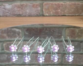 SALE 5 x Pink/lilac Hair Pins