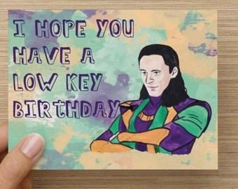 Loki Funny Birthday Card
