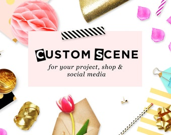 Custom scene | Styled stock photography | Mockup creator | Product photography |